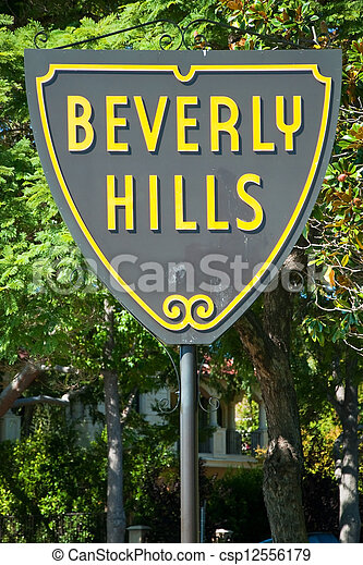 Beverly Hills sign in Los Angeles park - csp12556179