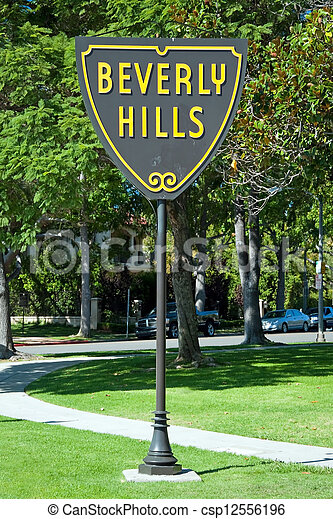 Beverly Hills sign in Los Angeles park - csp12556196