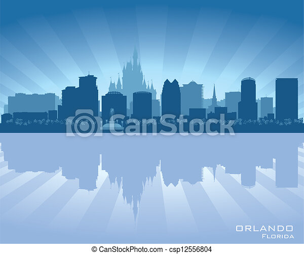 Orlando, Florida skyline city silhouette - csp12556804