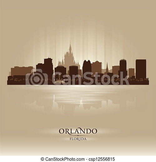 Orlando, Florida skyline city silhouette - csp12556815