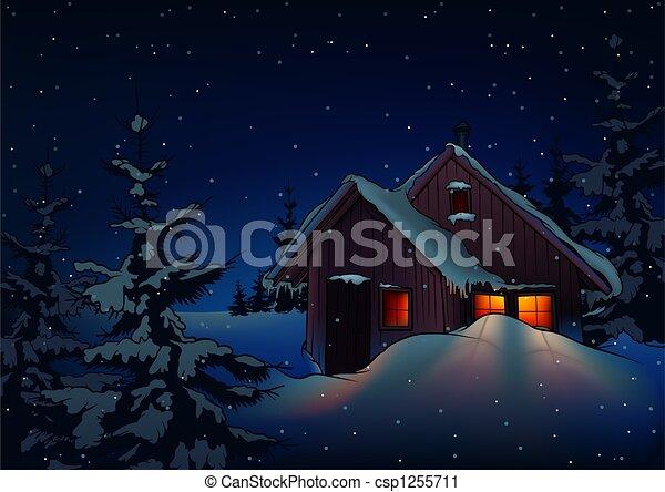 Snowy Christmas - csp1255711