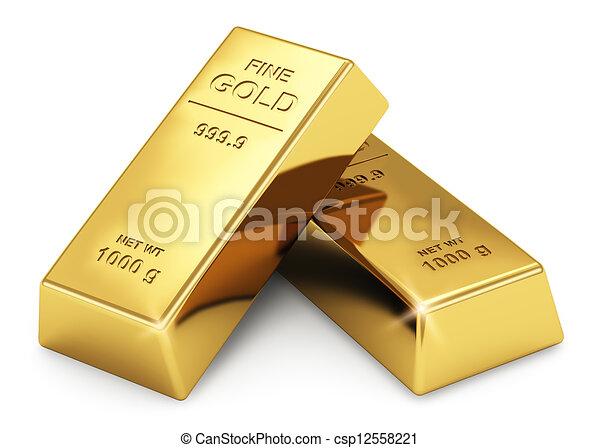 Gold ingots - csp12558221