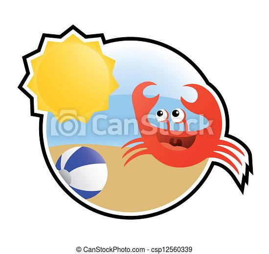 螃蟹, 颜色, 假日 - csp12560339