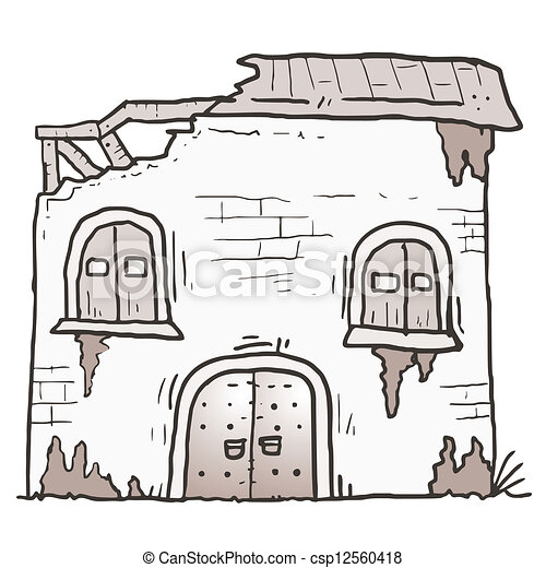 卡通房屋顶视图素材