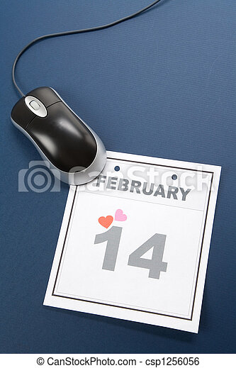 calendrier,  valentine\\\'s, jour - csp1256056