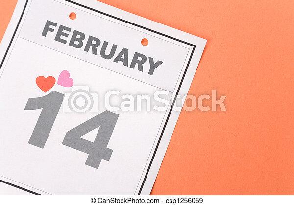 calendrier,  valentine\\\'s, jour - csp1256059