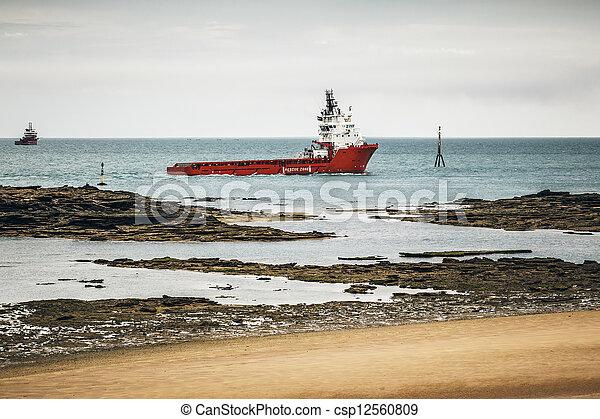 ship at the coast - csp12560809