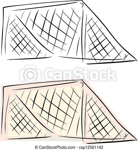 Hockey Net Clip Art