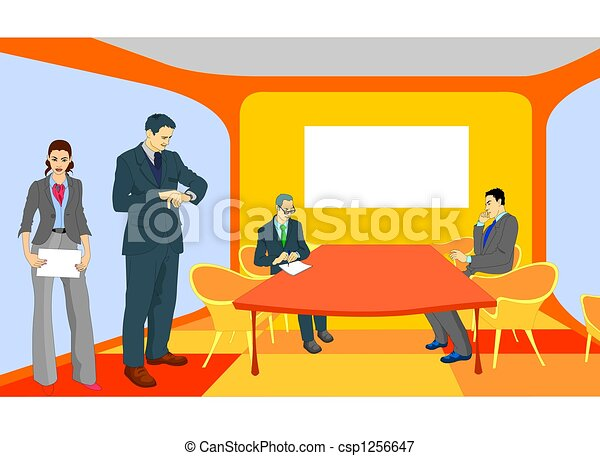 Stock Illustration of Business People at the meeting room - Useful ...