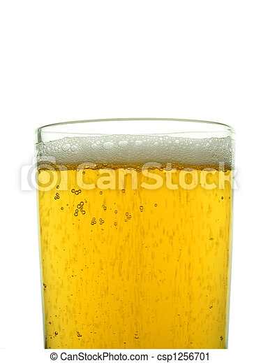 Glass of lager - csp1256701