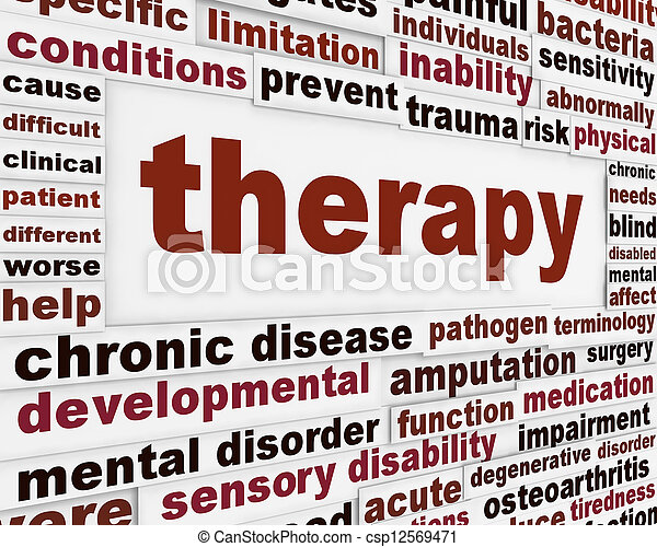 Therapy medical creative background - csp12569471