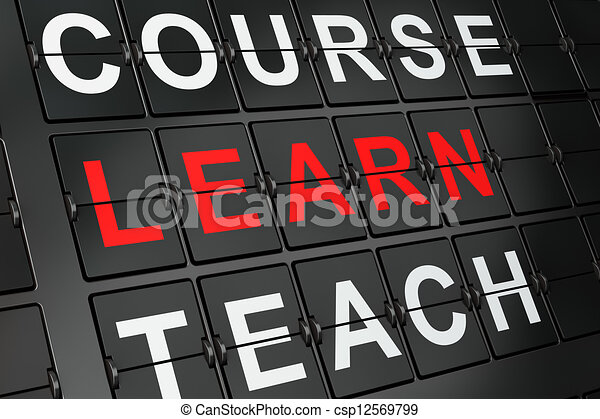 Education concept: Learn on airport board - csp12569799