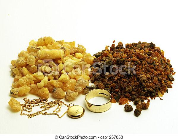 Gold, frankinsence and myrrh - csp1257058