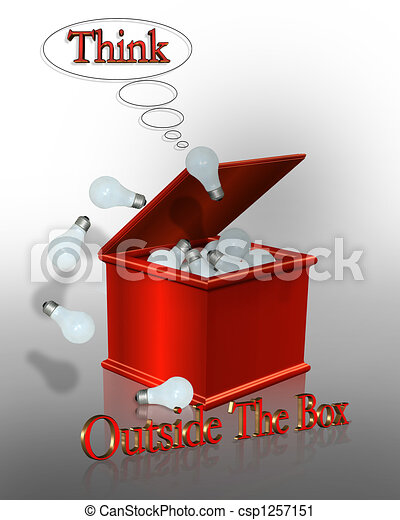 Think Outside the Box - csp1257151
