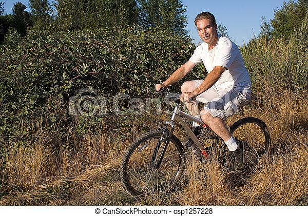 Oregon bike rider. - csp1257228