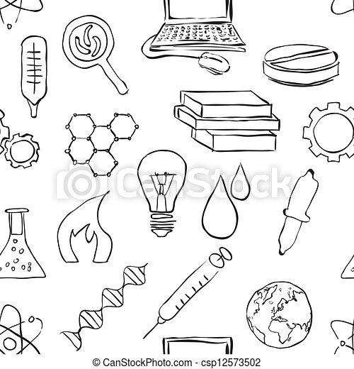 科学海报手绘图片大全
