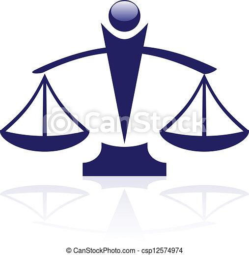 Vector icon - Justice scales - csp12574974