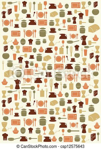 Vecteur eps de symboles fond cuisine background for Fond blanc cuisine