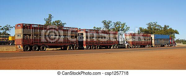 estrada, trem, Australia2 - csp1257718