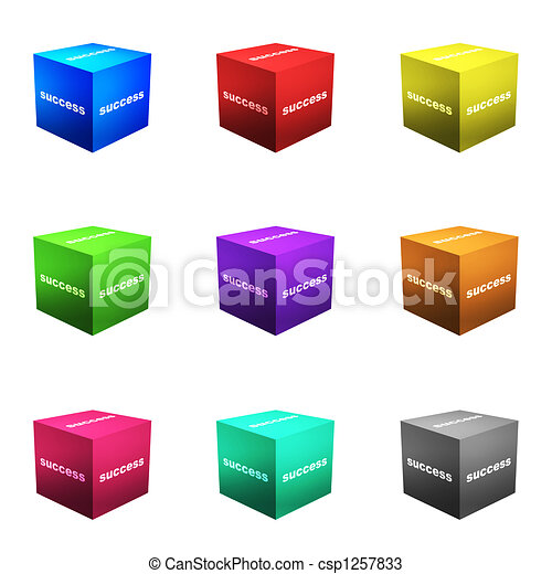 Success Boxes in 3d Cube Format - csp1257833