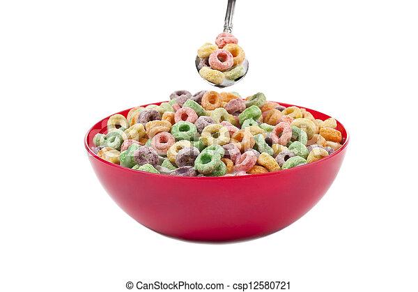 Stock de fotos taz n cereales cuchara imagenes for Tazon cereales