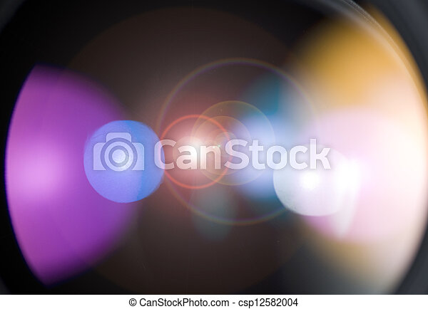 The light on the camera lens