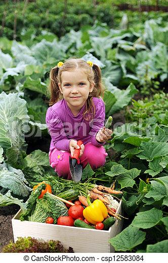 In the kitchen-garden