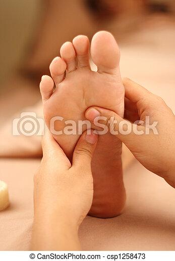 foot reflexology - csp1258473