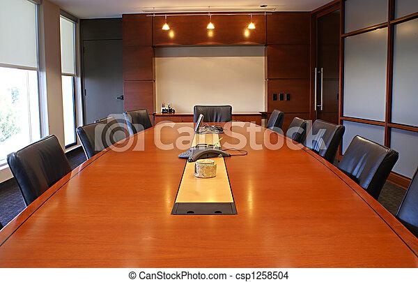 Corporate desk for meetings. - csp1258504