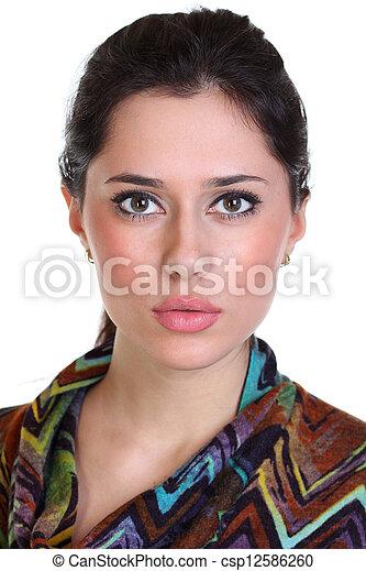 Portrait of beautiful woman  - csp12586260