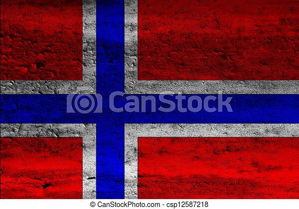 Flag of Norway - csp12587218