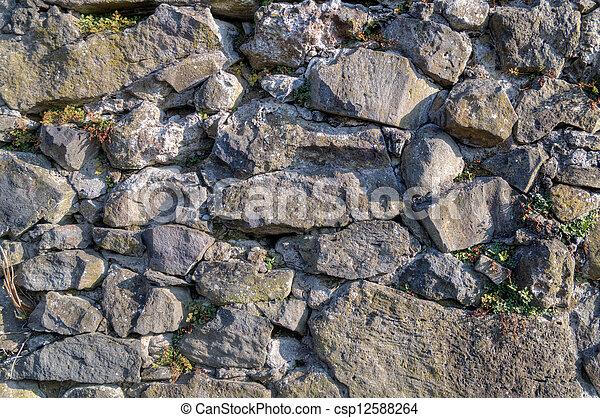表面, 石头, 墙壁, 裂缝 - csp12588264