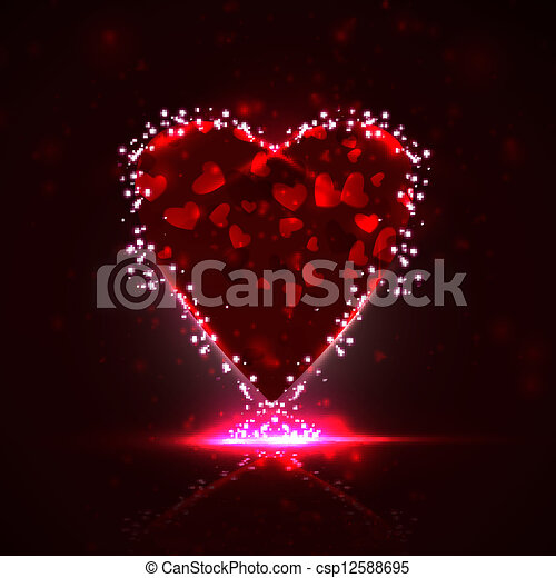 Futuristic heart, abstract background, vector illustration eps10 - csp12588695