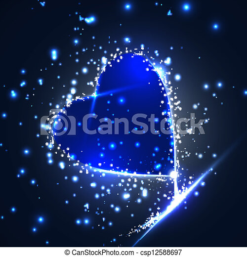 Futuristic heart, abstract background, vector illustration eps10 - csp12588697