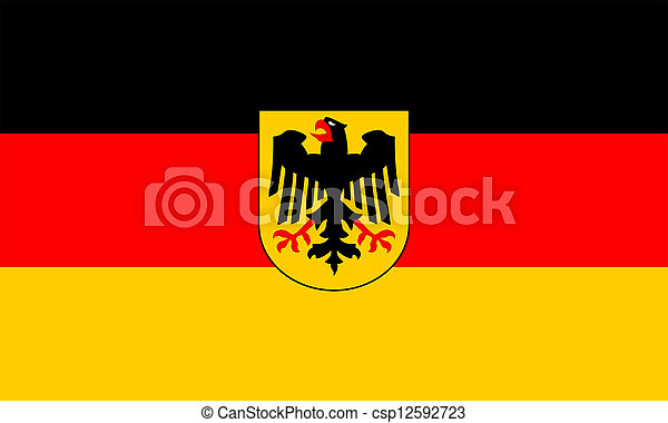 Government flag of Germany. - csp12592723