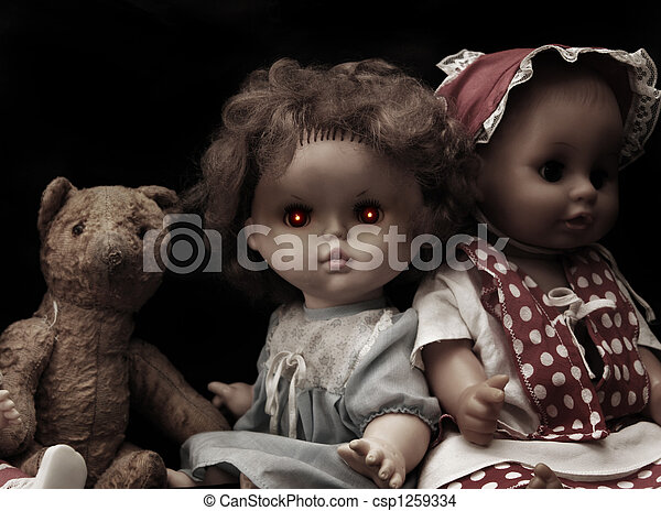 Dark series - vintage spooky doll - csp1259334