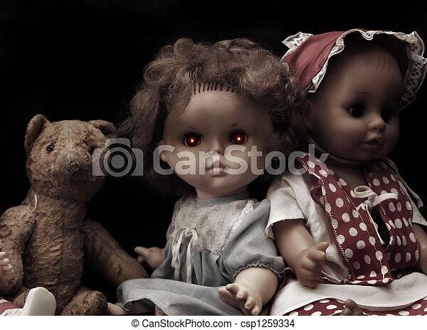 Dark series - vintage spooky doll - csp1259334
