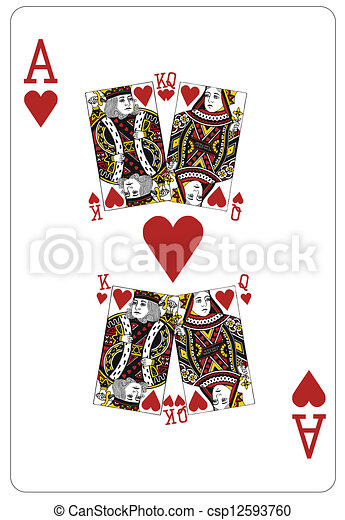 Valentine day king and queen - csp12593760