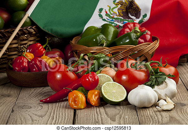 set of mexican vegetables - csp12595813