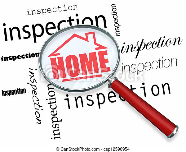 Home Inspection - Magnifying Glass - csp12596954