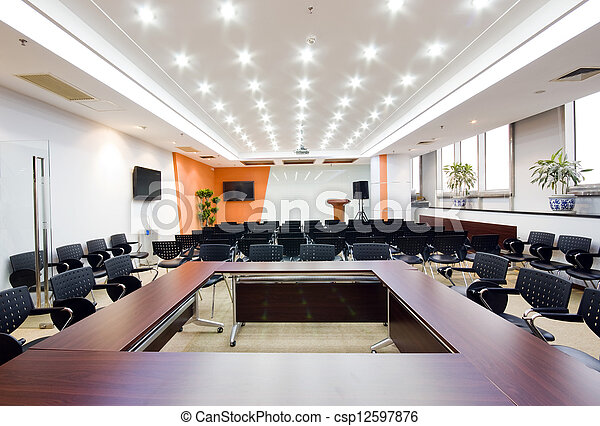 Modern office interior Boardroom - csp12597876