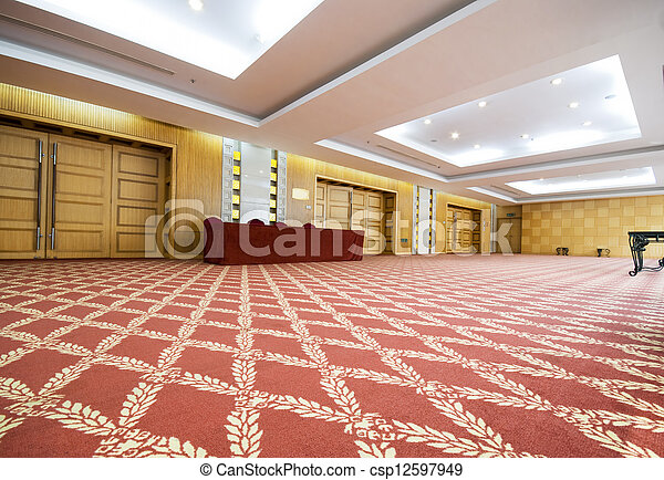 The luxury spacious meeting room of an upscale hotel - csp12597949