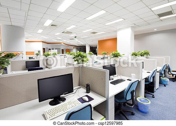 Beijing, trabalho, lugar, escritório - csp12597985