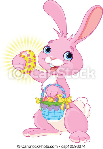 Easter Bunny with Easter Egg - csp12598074