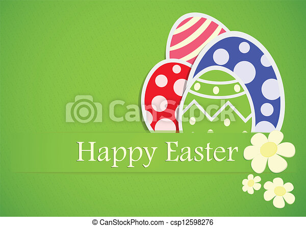Easter Gift Paper - csp12598276