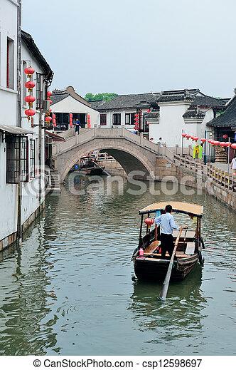 Shanghai rural village - csp12598697