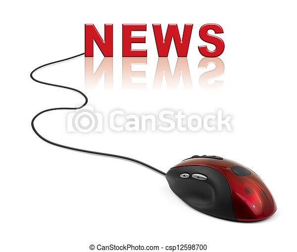 Computer mouse and word News - csp12598700