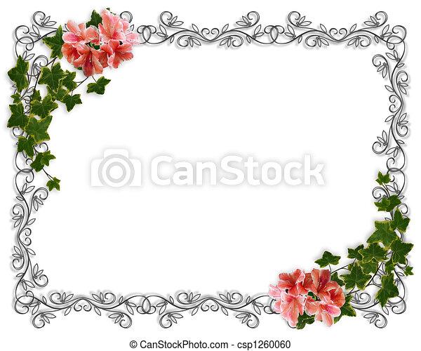 Banco De Imagem   Hera  Floral  Borda  Convite   Banco De Imagens