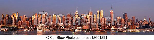 New York City Manhattan panorama - csp12601281