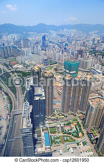 Hong Kong aerial - csp12601950
